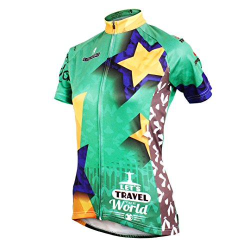 Jacket Quick Top Bike Sleeve Wicking Cycling Short Clothing Dry Shirt Moisture Breathable Mountain Star Jersey Decoration Multicolore Outdoors Sports Women's q1xvIawa