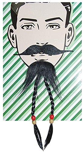 Needzo Self-Adhesive Tribal Man Costume Accessory Beard and Mustache Combo -