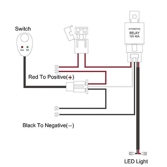 GZQ Verkabelungs-Relais für LED-Lichter mit An/Aus-Schalter zum ...