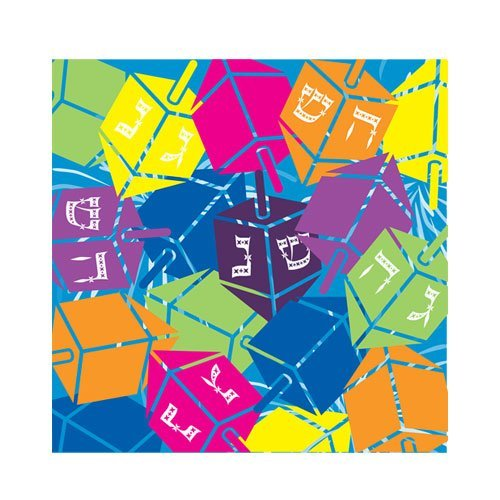 (Hanna K. Signature Collection 75 Count Dreidels Beverage Napkin, Multicolor)