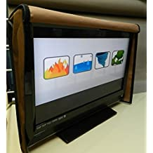 """Naked FULL Front Flap Lifts up Bottom is Sealed, Waterproof Tv Cover fits most 55- 60"""" tvs, 55 x 33 x 4,for Led, Lcd, Plasma, or Flat Screen Tv Cover (63-72"""", BLACK)"""