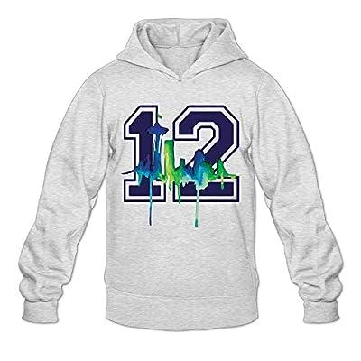 AK79 Men's Hoodie Seattle #12 Seahawks Ash