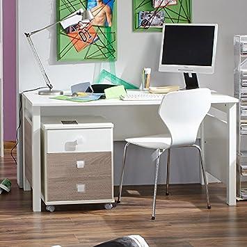 Kinderzimmer Schreibtisch Set Mira Alpinweiss Eiche Sagerau