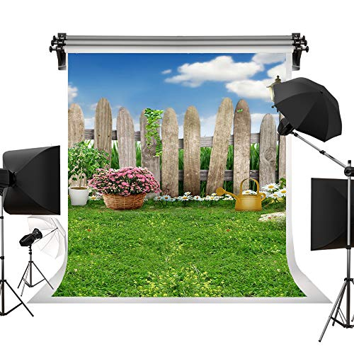 Kate 6.5x10ft/2x3m(W:2m H:3m) Spring Photography Backdrops Lawn Garden Backdrop Party Sunny Blue Sky Photographic Background Easter ()