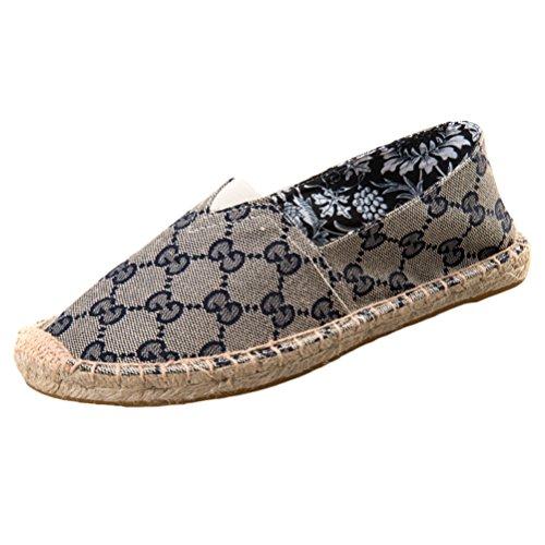 Vogstyle Unisex Adulto Zapato Flats Ballerinas Slip-On Zapatos de Lona Estilo 8-Azul