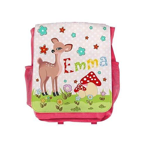 Kinderrucksack Reh Mit Name Für Mädchen In Pink Kita Kindergarten