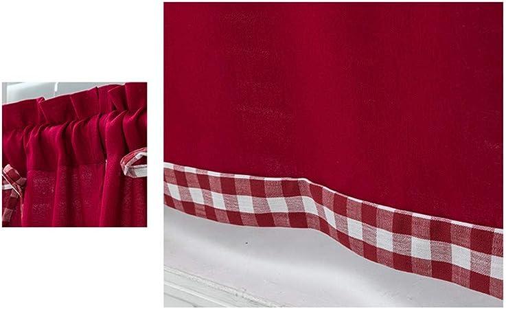 SimidunEUR Cortinas Visillo para Cocina 61 CM Estilo japon/és,Armada,74