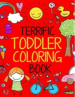 Terrific Toddler Coloring Book For Toddlers Easy Educational Boys