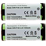 Floureon Rechargeable Cordless Phone Battery 2 Packs for Lenmar CB0105, CB-0105 Cordless Telephone Battery Replacement Pack, Office Central