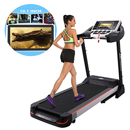 Golds Gym Treadmill Connect Bluetooth: 10.1 Inch WIFI Large Color Touch Screen 3.0 HP Folding