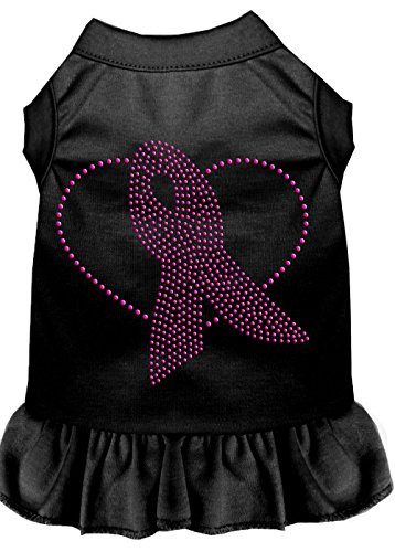 Mirage Pet Products Pink Ribbon Rhinestone Dress, 3X-Large, Black