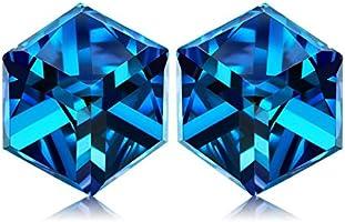NINASUN Accroc a toi Argent 925 Bijoux Femme composés de Cristaux Swarovski [Bermuda Blue] et Boite-cadeau, Sans Allergène
