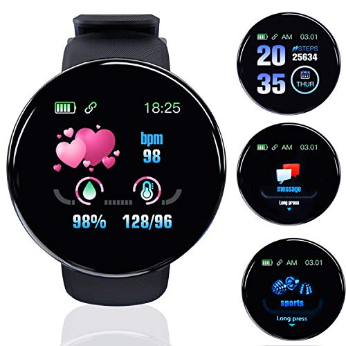 Smart Watch for Android Phones and iOS Phones Compatible iPhone Samsung, IP65 Swimming Waterproof Smartwatch Fitness…