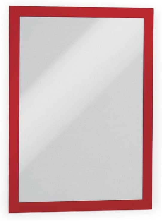 Red 476803 2 Pack DURABLE Self-Adhesive Magnetic DURAFRAME Document Sign Holder Letter-Size 8-1//2 x 11