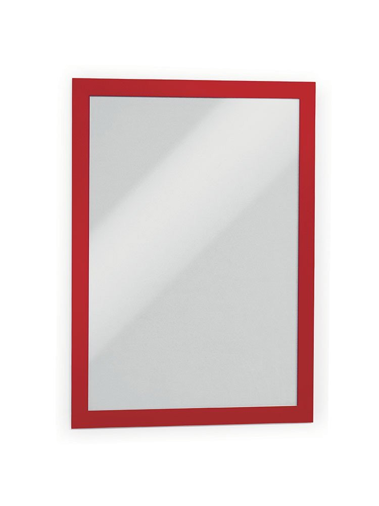 DURABLE DURAFRAME, Self-Adhesive Magnetic Frame, Letter, Red, 2-Pack (476803)
