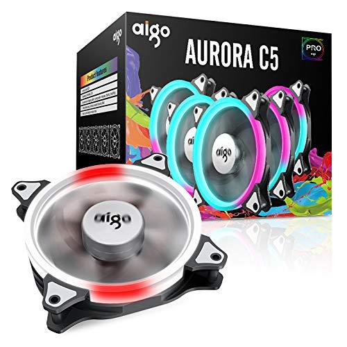 Amazon.com: 5 Pack 120 mm Aigo C5 Computer Case Fan PC ...