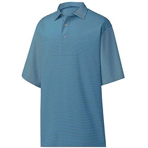 (FootJoy ProDry Stretch Lisle Golf Polo W/Feeder Stripe & Self Collar)