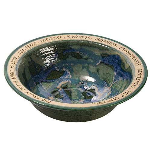 Thrown Stoneware Bowl (BRYAN BECKER CLAY WERKS Wedding Bowl - Engraved Stoneware Dish - Great Wedding or Shower Gift)
