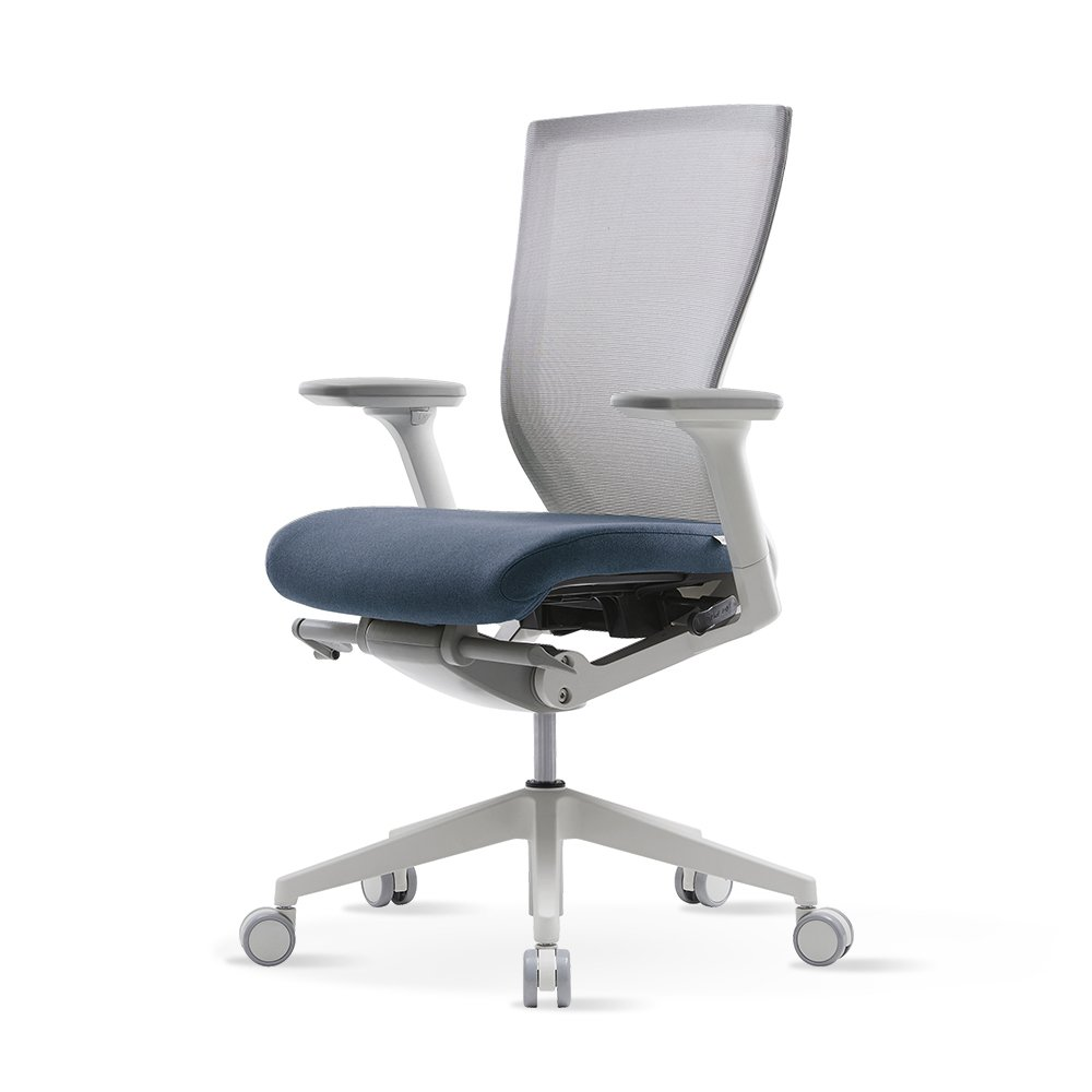 SIDIZ T50 Home & Office Multifunction Ergonomic Swivel Task Chair (TNB500DA): High Back, Mesh Back, 3-Way Adjustable Arms, Adjustable Seat Slide/Slope (Blue) by SIDIZ