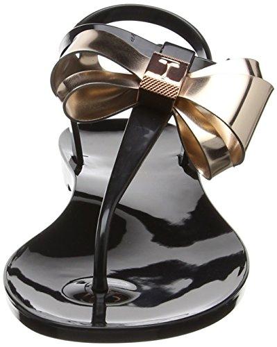 Baker Femme black Multicolore Ainda Sandales rose Ouvert Gold Bout Ted dqxwO0WX1d