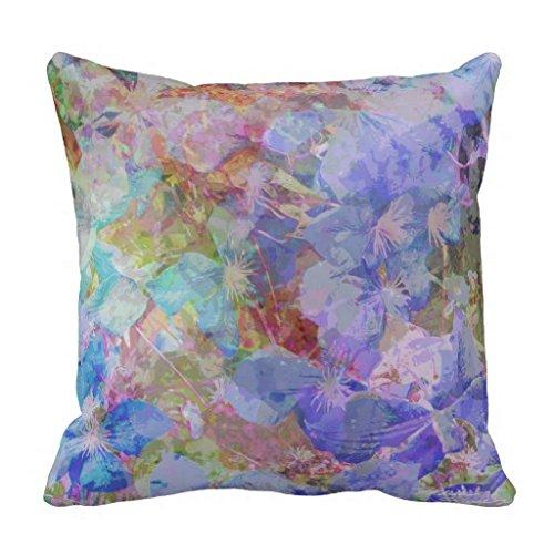 Azul topacio Floral Accent almohadas de Maria Eames suave ...