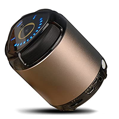 OU-BAND Ultra-Portable Wireless Bluetooth Stereo Speaker, Bass Booster Touchpad Control Portable with TF Card Optional Support NFC System AUX Line-in Powerful Sound with build in Microphone