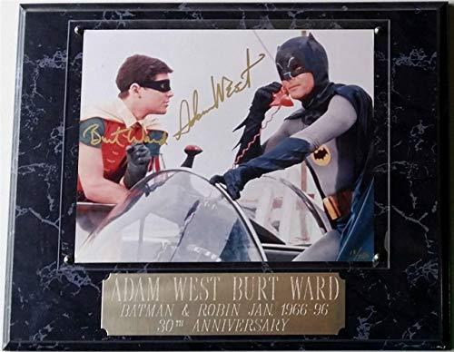 Adam West Autographed Signed & Burt Ward Autograph Batman Robin 8x10 Photo /250 PSA/DNA COA