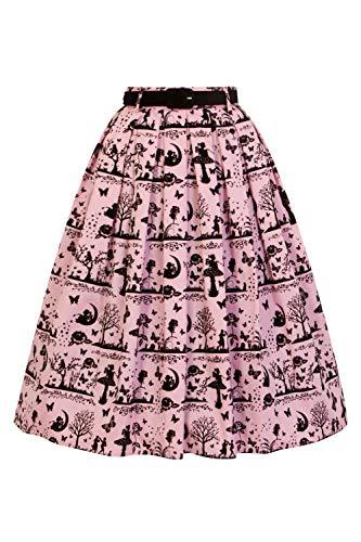 Rose 1950 de Conte Jupe fes de Anderson de Hell Motifs Bunny Velours t4Pqn7