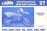 320402 1997 KTM 250 300 360 SX SMX EXC EGS Chassis Spare Parts Manual