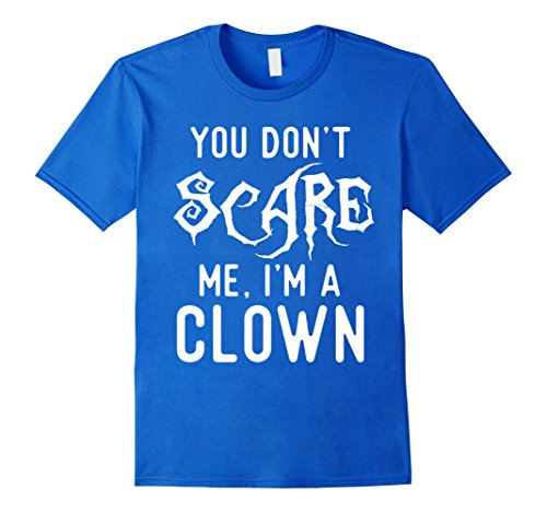 Cheap Halloween Costumes For Best Friends (Mens Funny Clown Shirts Halloween Scary Costume Joke Gag Gifts. Small Royal Blue)