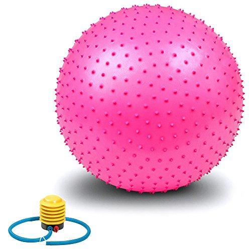 Ballon d'exercice, VALENTIEN Anti-éclatement et résistant aux chaussures Athletic gonflable Twist Massage Balance Fitness ball avec pompe