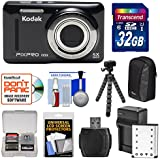 Kodak PIXPRO Friendly Zoom FZ53 Digital Camera (Black) 32GB Card + Battery & Charger + Case + Flex Tripod + Kit