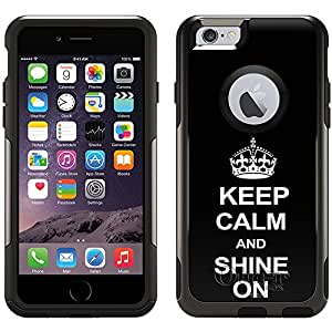Skin Decal for Otterbox Commuter Apple iPhone 6 Case - KEEP CALM and Shine On on Black