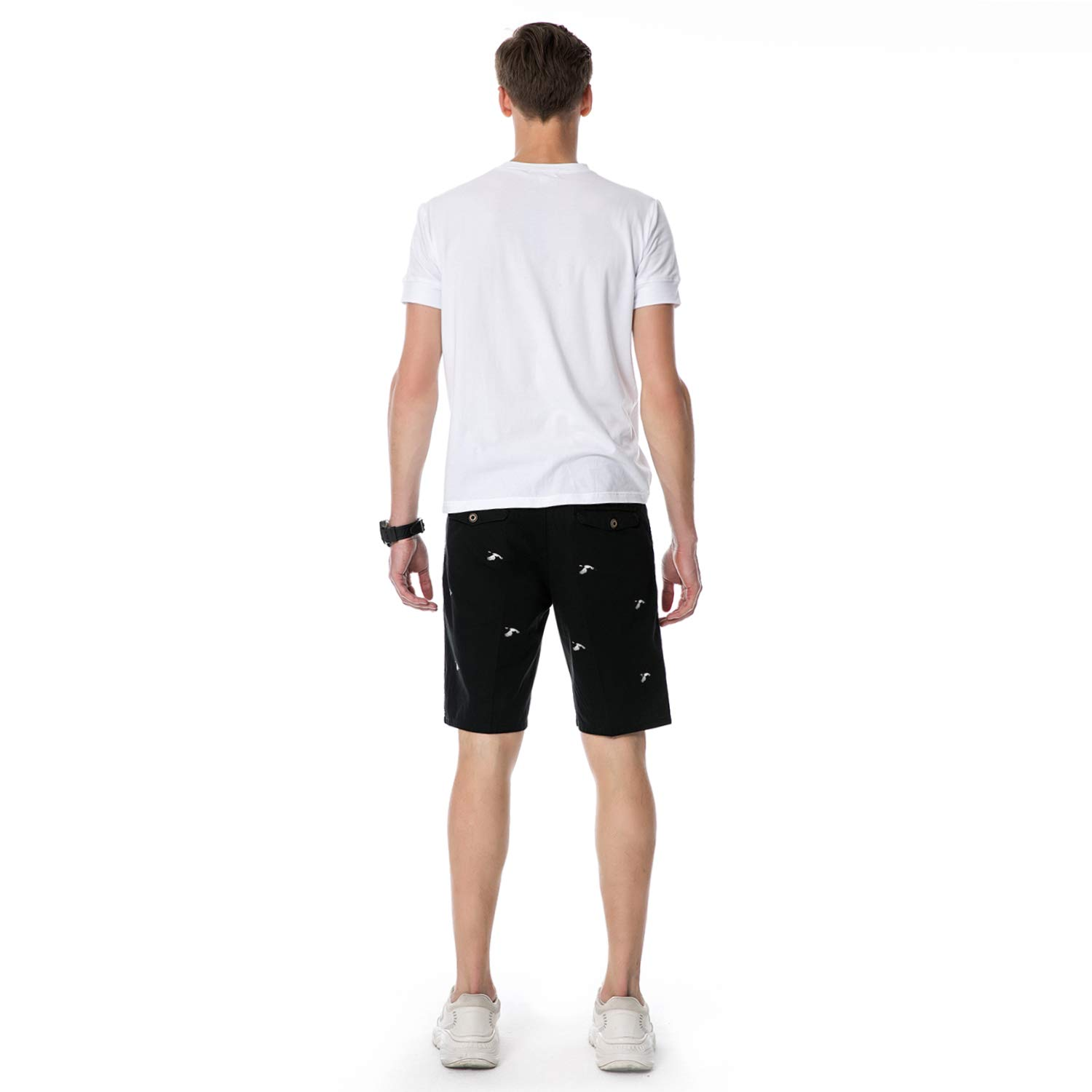 SEMARO Mens Casual Multi-Pocket Shorts Summer Work Cargo Short
