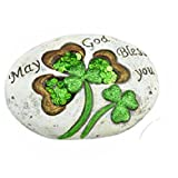 May God bless You, Decorative Irish Stone, Saint Patrick'Stewart Day Decor