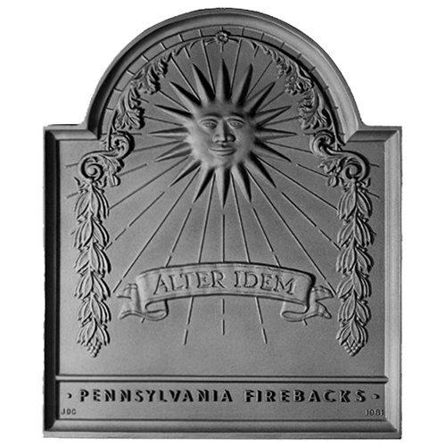 18'' x 21.5'' Franklin Sun Fireback by Pennsylvania Firebacks