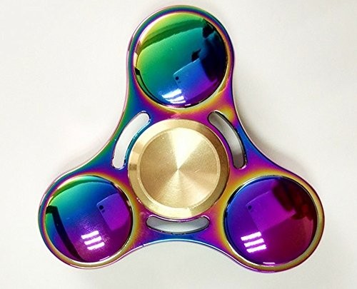 Price comparison product image Inspirationc EDC Fidget Hand Spinner, Hand Fidget Spinner Toy for Kids & Adults for Stress Reducer Relieves ADHD Anxiety High Speed Metal Bearing 1-3 Min Spins finger spinner--Colorful Roundness