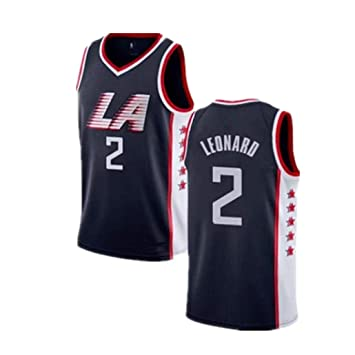 Auart Mens Camiseta de Baloncesto # 2 Kawhi Leonard NBA Secado sin ...
