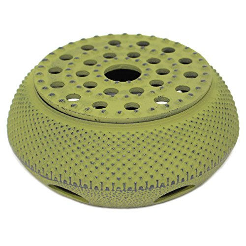 Green Hobnail Small Dot Japanese Cast Iron Tetsubin Teapot Candle Warmer(F15364-1)~ We Pay Your Sales Tax (Tetsubin Warmer)