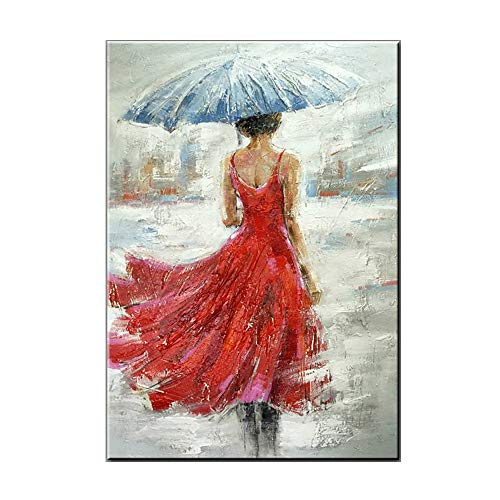 YCRD Modern Art Oil Painting, Hand-Painted Figure Painting On Canvas, Home Decorating Art Mural Living Room Background Wall Hanging (No Frame),C,90×120Cm