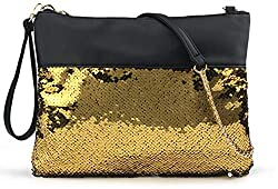 Reversible Sequin Evening Clutch