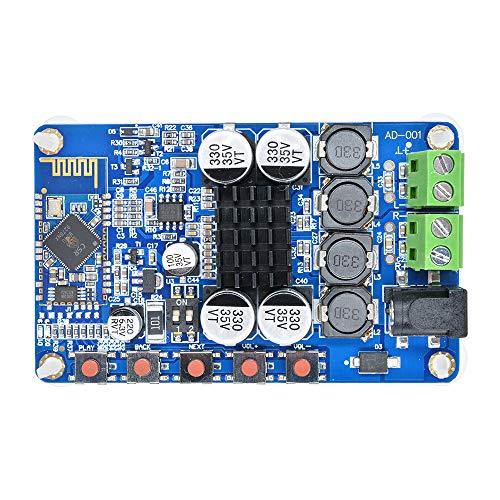 Diymore TDA7492P 50W+50W CSR8635 2 x 50 Watt Dual Channel Amplifier with 2 8ohms Speakers DIY Module Wireless Digital Bluetooth 4.0 Audio Receiver Amplifier Board (Blue)