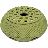 Green Hobnail Small Dot Japanese Cast Iron Tetsubin Teapot Candle Warmer(F15364-1)~ We Pay Your Sales Tax