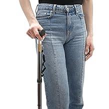 Soles Walking Stick Cane (Black, Silver or Bronze) – Adjustable, Foldable Aluminum – Men or Women – Lightweight, Portable & Durable – Includes Carry Strap