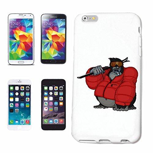 "cas de téléphone iPhone 7S ""GORILLA EN PISTES AVEC SKI SUITS MONKEY MONKEY GORILLA CHIMP SILVER RETOUR APE CHARLY MONKEY KING KONG"" Hard Case Cover Téléphone Covers Smart Cover pour Apple iPhone en bl"