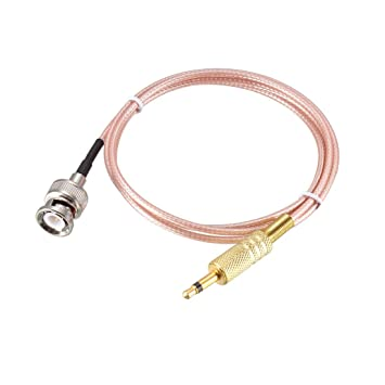sourcing map Cable Alimentación Audio Coaxial Macho TS Mono 1 ...