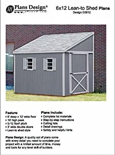 How To Build A Storage Shed, Lean To Style Shed Plans, 6u0027 X