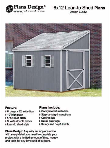 how to build a storage shed lean to style shed plans 6 x