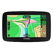 TomTom Via 53 Europa 45 GPS per Auto, Display da 5, Mappe a Vita, Aggiornamento Tramite Wi-Fi, Nero