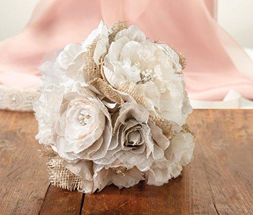 Lillian-Rose-Rustic-Country-Wedding-Burlap-Flower-Bouquet